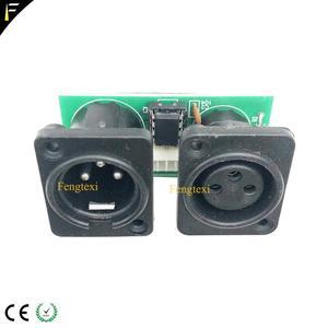 Image 5 - 2 pces 7r/5r 200/230 dmx512 sinal conectar placa parte pouco pcb 3pin xlr dmx conector com substituição do reparo da placa da microplaqueta