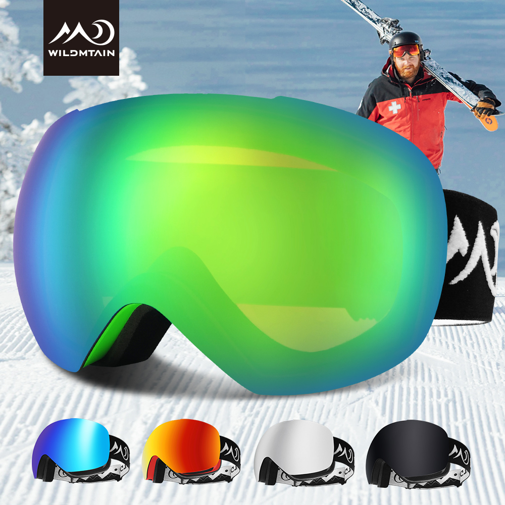 WILDMTAIN G2 Ski Goggles, Frameless 100% UV Protection, Anti-fog Premium Over Glasses Snowboard Snow Goggles For Women Men Youth
