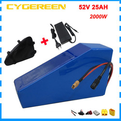 2000W 52 V 25AH Triangle batterie 14S 52 V EBIKE bateria 1000W 51.8V 20AH lithium batteries pack 35E 18650 cellule 50A BMS 5A chargeur