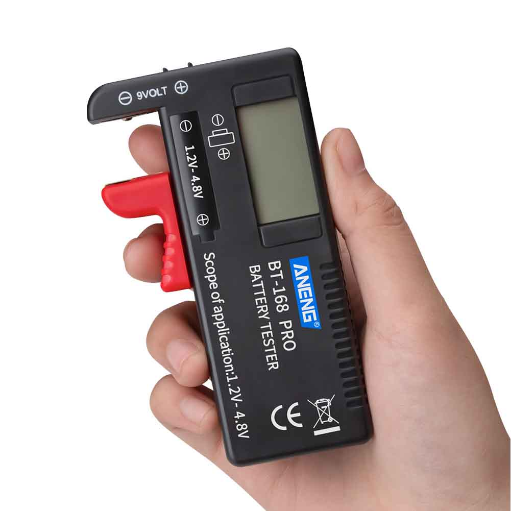 Diagnostic Tool Universal Volt Checking Pointer Plastic Measurement Button Cell LCD Digital Battery Tester Electrical Portable image