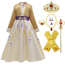 Girl Dress Cosplay Queen Elsa Dresses Elsa Costumes Princess Anna Dress Girls Party Vestidos Fantasia Kids Girls Clothing Sets 2017 summer style girls elsa anna princess dresses girl butterfly printed sleeveless formal girl dresses teenagers party dress