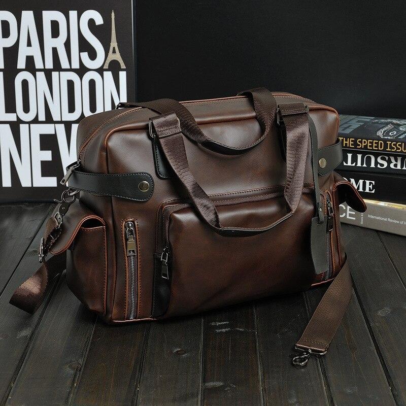 1PCS Classic Mad Horse Leather Men's Bag Leisure Single Shoulder Slant Bag Handbag Travel Bag Massive Men's Bag