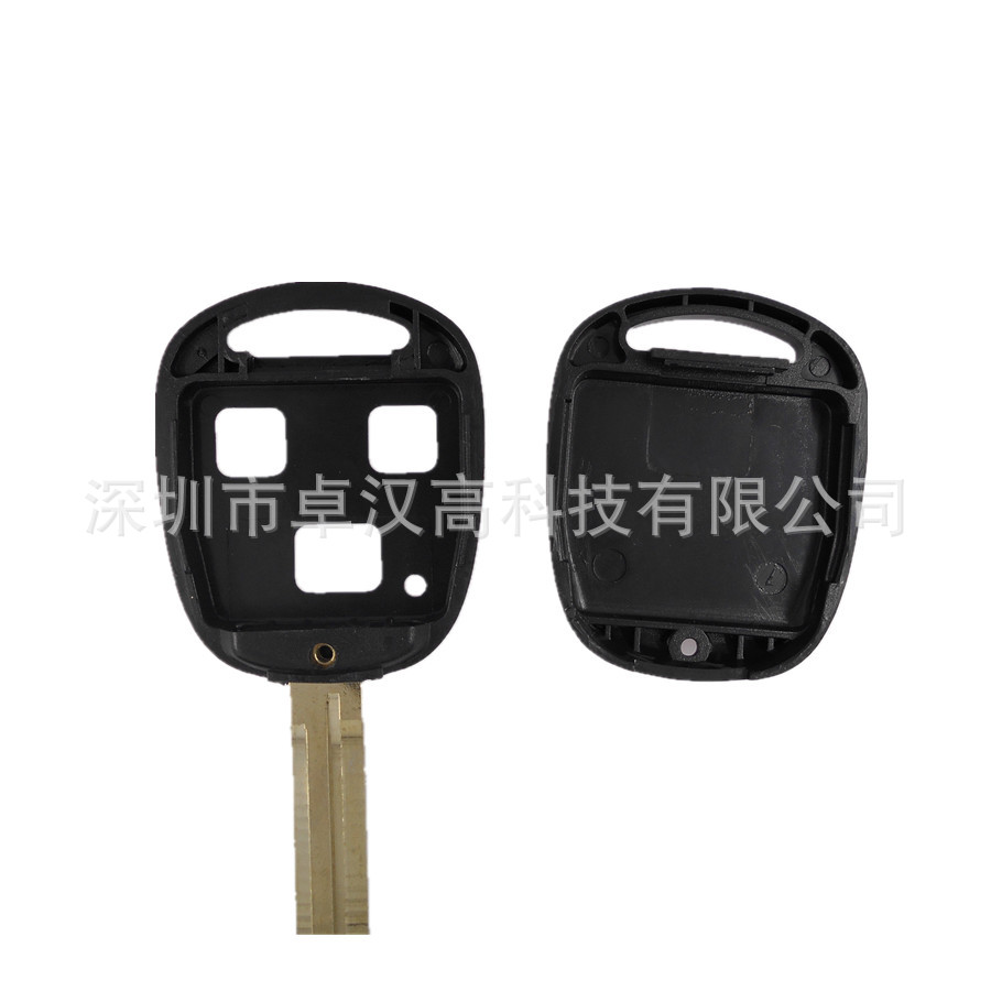 For Toyota Land Cruiser / Prado Instead of Original Factory Auto Car Key KETO 3 Buttons Change Car Key Shell