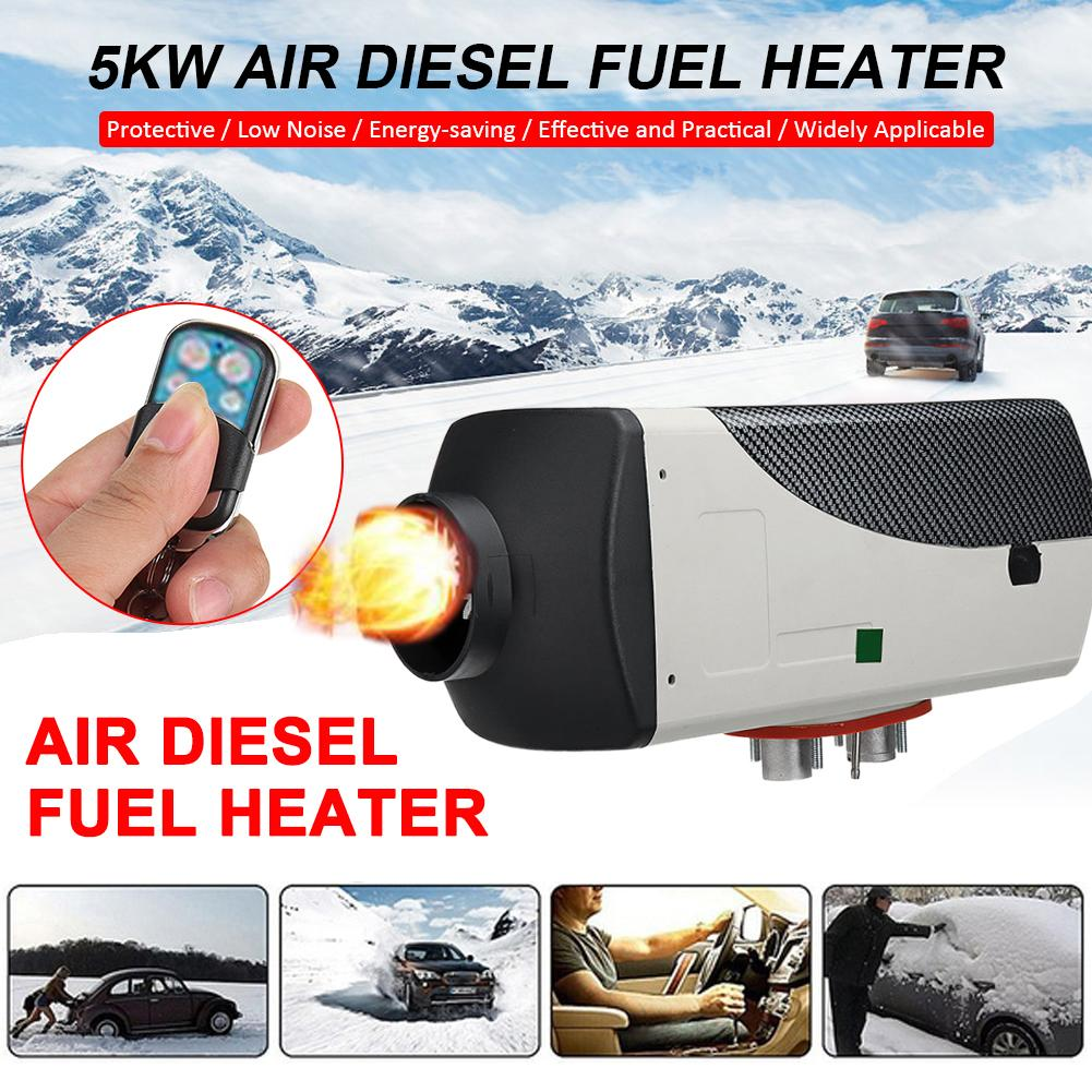 Car Heater 5kw 12V Air Diesels Heater Parking Heat LCD Monitor + <font><b>15L</b></font> <font><b>Tank</b></font> Remote Control For RV Boats Trailer Truck Motorhome image