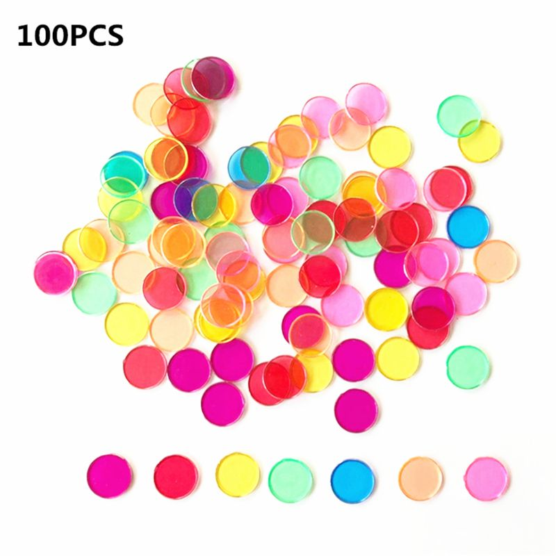 Montessori Learning Toys Magnetic Stick Wand Set With Transparent Color Counting Chips With Metal Loop #905
