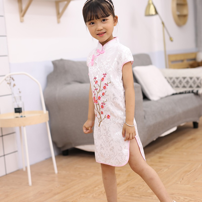 Kid Dress Child Girl/'s Dress Qipao Clothes Slim fit Chinese Baby Comfortable