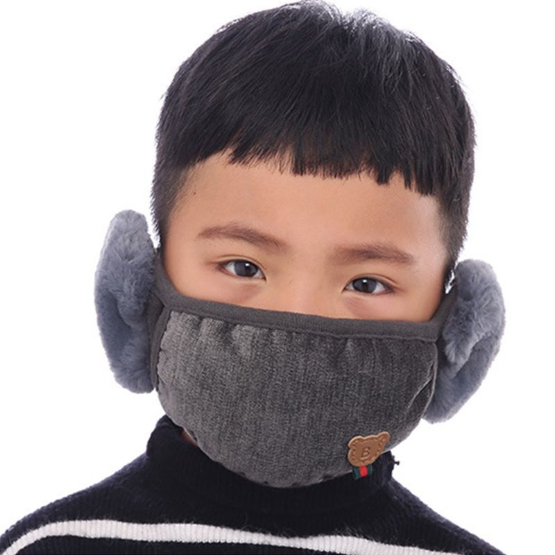 Winter Children Cartoon Mouth Mask Cute Boys Outdoor Anti Dust Windproof Masks AXYD