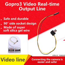 Gopro3 Video Ausgang Linie FPV Stecker Kabel AV Video-zeit Ausgang Kabel für Gopro 5,8G Sender(China)