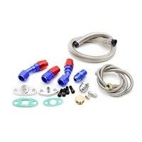 Kit adaptador de turbina t3/t4/t04e kit de tubulação de abastecimento de óleo da turbina|Juntas esféricas| |  -