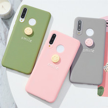 3D Funny Smile Button Silicone Case For Huawei P20 P30 P40 P9 P10 Mate 30 10 20