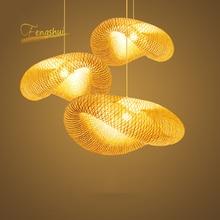 נורדי LED עץ תליון מנורת במבוק מטבח גופי Led תליון אור השעיה בית מקורה אוכל חדר תליית מנורת Luminaire