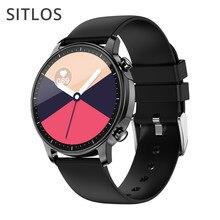 Sitlos 2020 novo v23 relógio smartwatch feminino toque completo mutil-esporte com monitoramento de freqüência cardíaca relógio inteligente para ios android