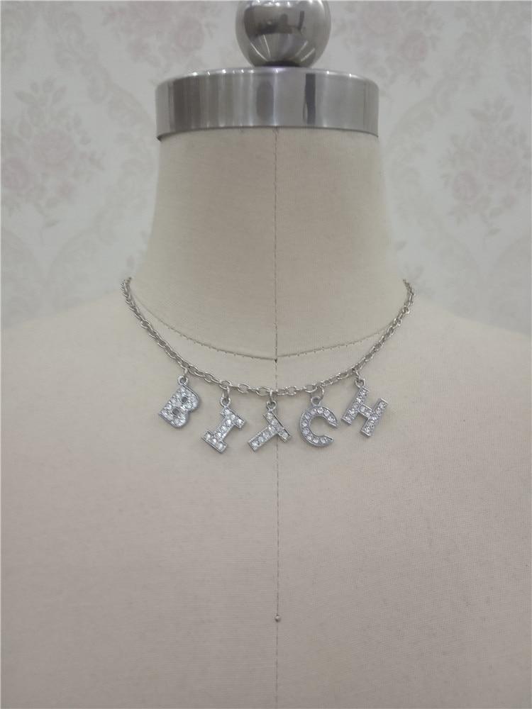 H0676383d3dfc4ba0ac0424d273a4081aU - Harajuku Letter Crystal Angel Necklace Women Jewelry Couple Gift Necklace BABY HONEY Choker Femme Punk Collier Drop Ship