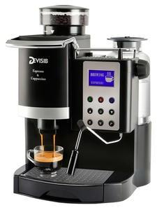DEVISIB автоматическая кофемашина для эспрессо, американо с кофемолкой и отпаривателем для молока, 1 год