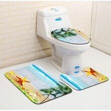 浴室の床マットトイレスリーピース3D浴室マットトイレ吸収ノンスリップcarpet50 * 80センチメートル