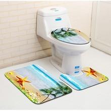 Tapis de sol salle de bain toilette trois pièces 3D tapis de salle de bain toilette absorbant antidérapant carpet50 * 80cm