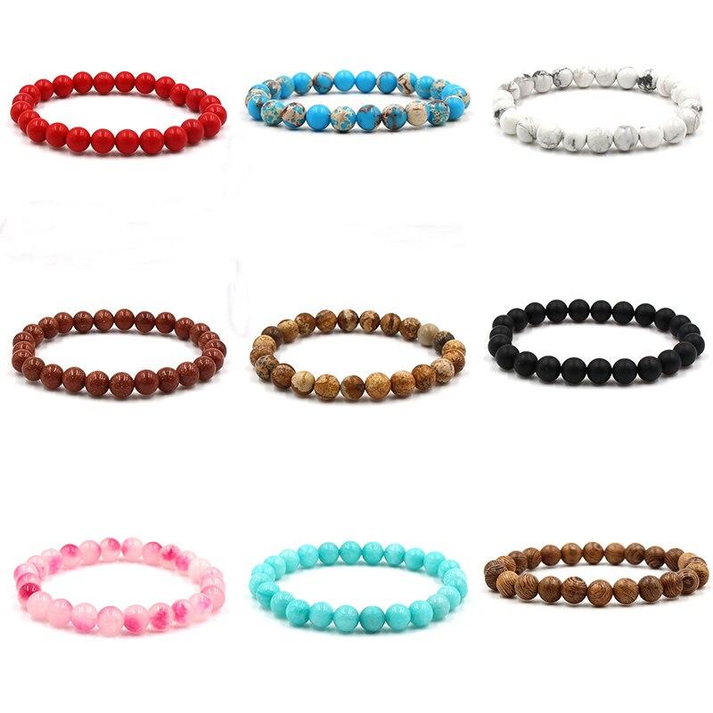 Classic Volcanic Rock And Lave Stone Bracelets Women Beaded Mens Bracelets 2019 Friendship Bracelets For Women Accessories 1