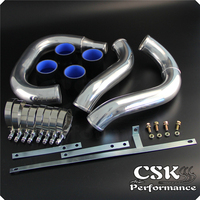 Upgrade Intercooler Piping Pipe Kit For 96 00 Mitsubishi Lancer Evo 4 5 6 4G63 Red / Blue / Black