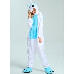 Image 5 - Women Unicorn Pajamas Sets Kigurumi Flannel Cute Animal Pajamas kids Women Winter unicornio Nightie Pyjamas Sleepwear Homewear