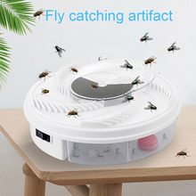 USB Electric Fly Trap Device Flycatcher Automatic Trapping Food Fly Fly Catcher Insect Pest Flytrap Kitchen Home Type Fly Trap