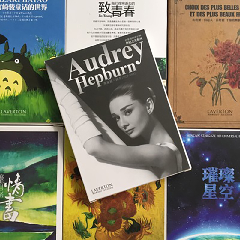30sheets/LOT Audrey Hepburn Postcard /Greeting Card/wish Card/Fashion Gift Greeting Cards Vintage-postcards