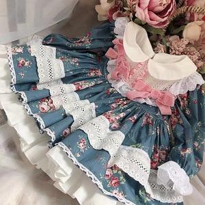 2020 летняя Новинка в Испании, короткий стиль, кружево, платье с бантом для принцессы, свадебное платье, платья для маленьких девочек, платье с ...
