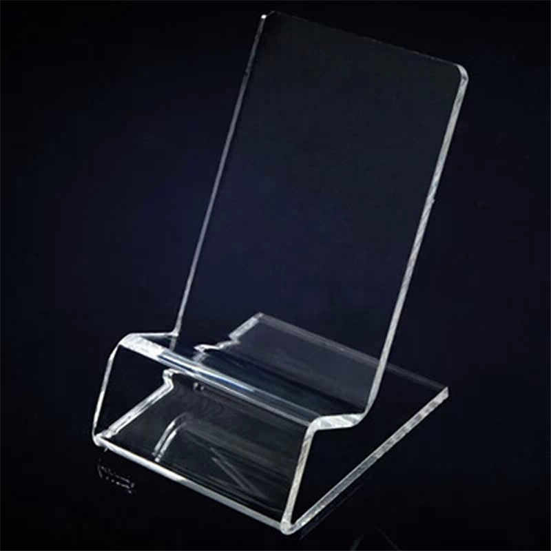 1 PCS Transparent Office Desk Accessories Card Clip Business Card Holders Desk Acrylic Plastic Id Holder Card Display Stand