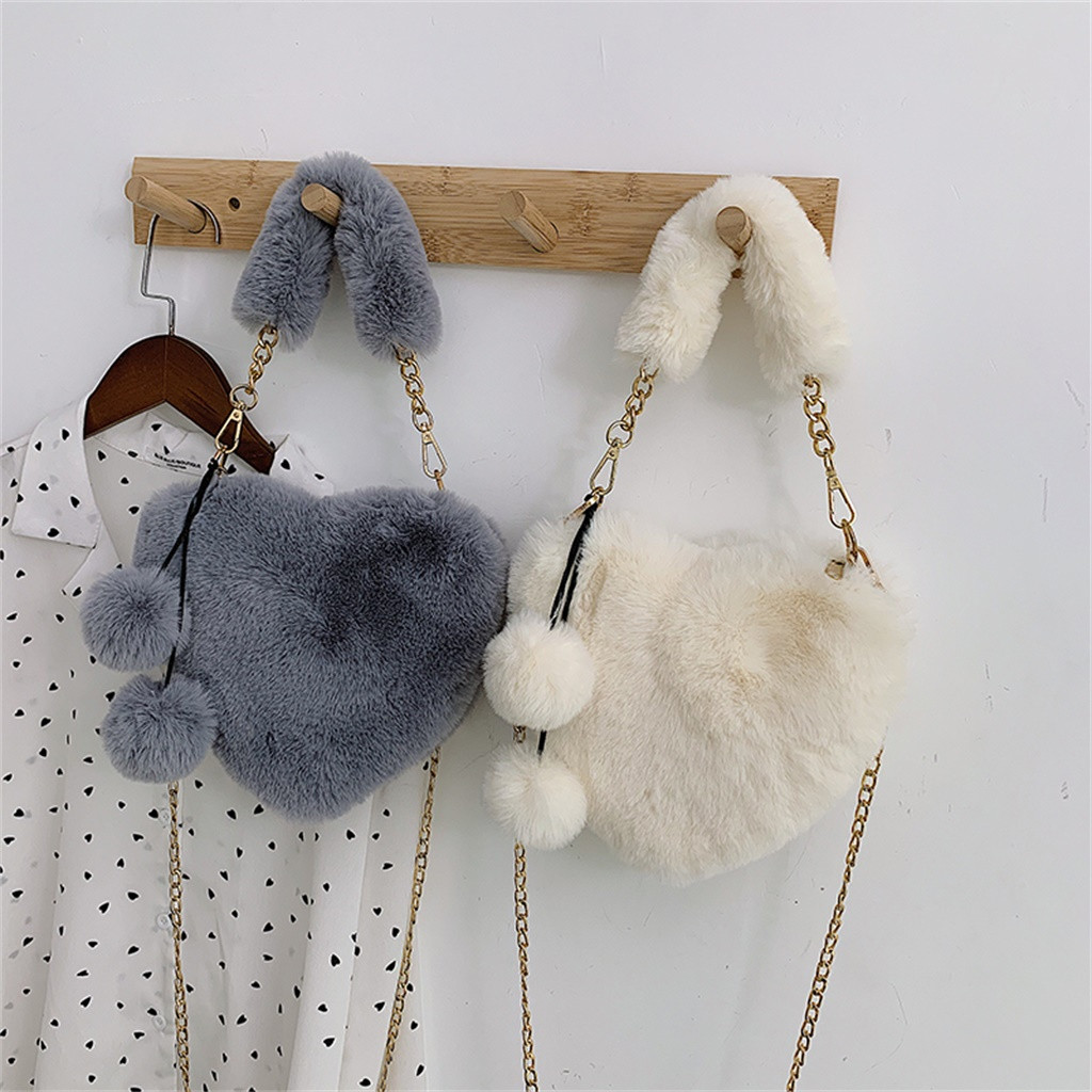 H067765affcd046d592ff8449552cbe1cu - Fashion Women Handbags | Cute Fluffy Fur