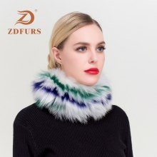 ZDFURS*Women Ring Scarf Winter Elastic Knit Real Fox Fur Scarves For Women Neck Warmer Scarf Female Hair Bands Headbands Girls oem quality datang dragon golf driver 917 woods f2 3 5 fairway woods with tourad tp6 stiff graphite shaft 2pcs golf clubs