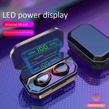 TWS Bluetooth Headset LED Display Digital Contact 5.0 Wireless Bluetooth Headset Binaural HD Call with 3500 MAh Charging Box