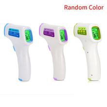 Digital Infrared Thermometer Baby Adult Forehead Non-contact Infrared Thermometer With LCD Backlight Infrared Thermometer random gaomu td8380 1 2 lcd digital infrared thermometer yellow black