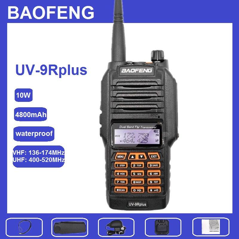 10W CB Ham Radio BAOFENG UV-9R Plus 10Watts Walkie Talkie 10KM Dual Band UHF VHF UV 9R Waterproof Powerful HF Transceiver