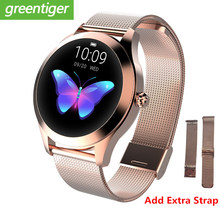 2019 Fashion Smart Watch Women KW10 IP68 waterproof Multi-sports modes Pedometer Heart Rate Fitness Bracelet for Lady(China)