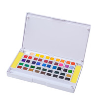 48 Colors Paint Solid Watercolor Pigment Paints Set For Drawing Painting Kids Toys Birthday Gift Develop Ability Educational Toy