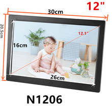 Gift 12 inch Screen LED Backlight HD 1280*800 Digital Photo Frame Electronic Album Picture Music Movie Full Function Good Gift