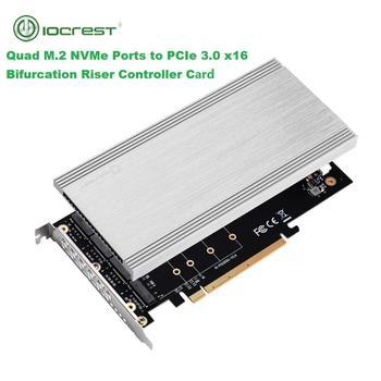 IOCREST 4 Ports M.2 NVMe to Pcie 3.0 X16 Bifurcation Riser Controller Adapter PCI Express 4 Ports M Key Host Controller Black адаптер lenovo system x3550 m5 pcie riser 1 1xlp x16cpu0 00ka061 page 9