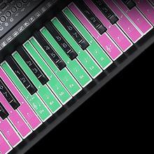 61-key piano keyboard sound name sticker 61Keys electronic music decal label description