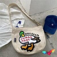 Mochilas de pato hechas a mano para hombre y mujer, bolsos de lona Vintage de edición limitada, 2021 humanos