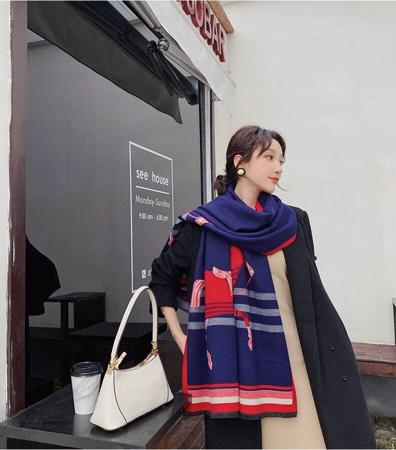 2019 Women Cashmere Scarf Hijab Bandana Cachecol Brand Pashmina Poncho  Shawls Scarves Echarpe Foulard Femme Desigual Sjaal|Women's Scarves| -  AliExpress