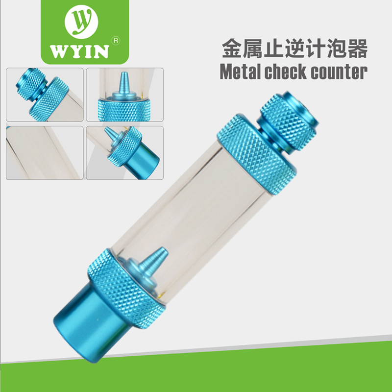 WYING Check Valve-Regulator Diffuser Reactor Single-Head Or Dual-Head Aquarium CO2 Bubble Counter Air Pump Accessories