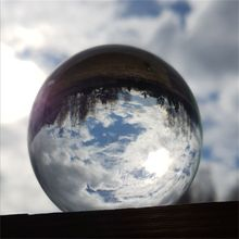 60cm/70cm/80cm 투명 유리 공 풍수 사진 크리스탈 공 룸 장식 홈 장식 선물 공예 공 선물