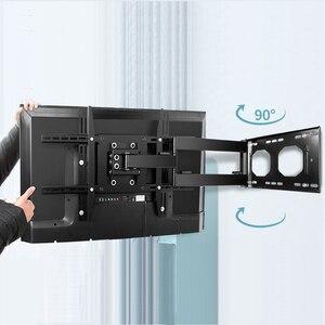 Image 2 - Pełnoekranowy uchwyt ścienny na TV podwójny ramię przegubowe obrotowe 90 stopni nachylenia dla większości 32 70 Cal telewizor z dostępem do kanałów trzymać 176lbs Max VESA 700*400