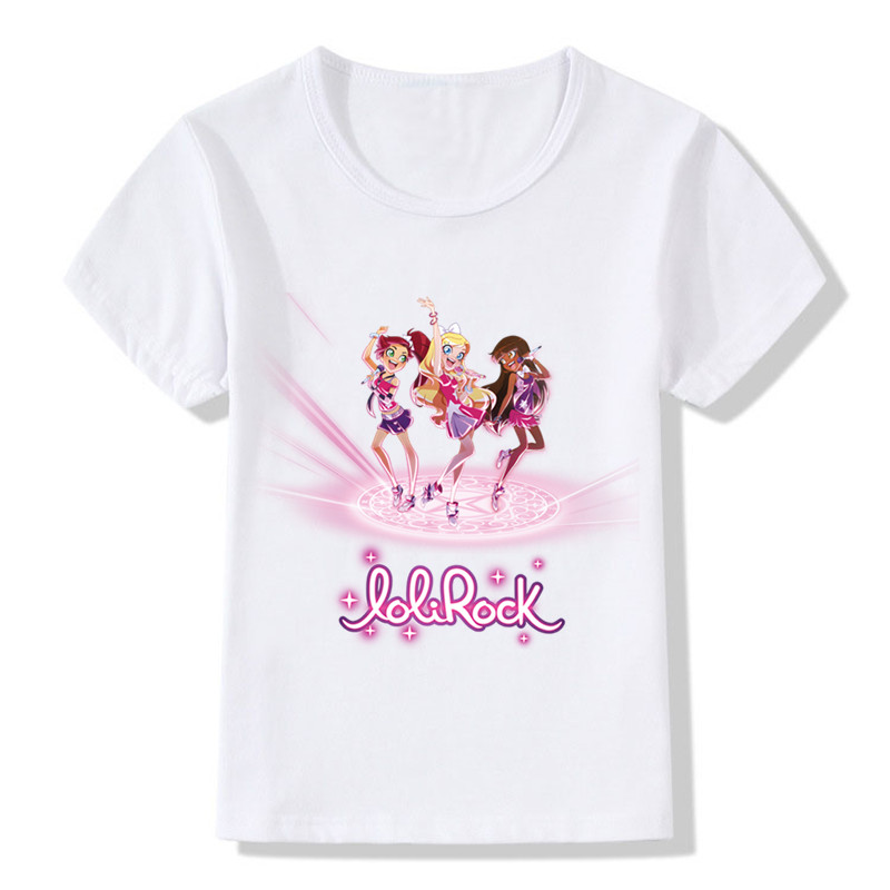 Children LoliRock Magical Girl Funny T-shirt Boys Girls Anime Great Tops T shirt Kids Clothes 14