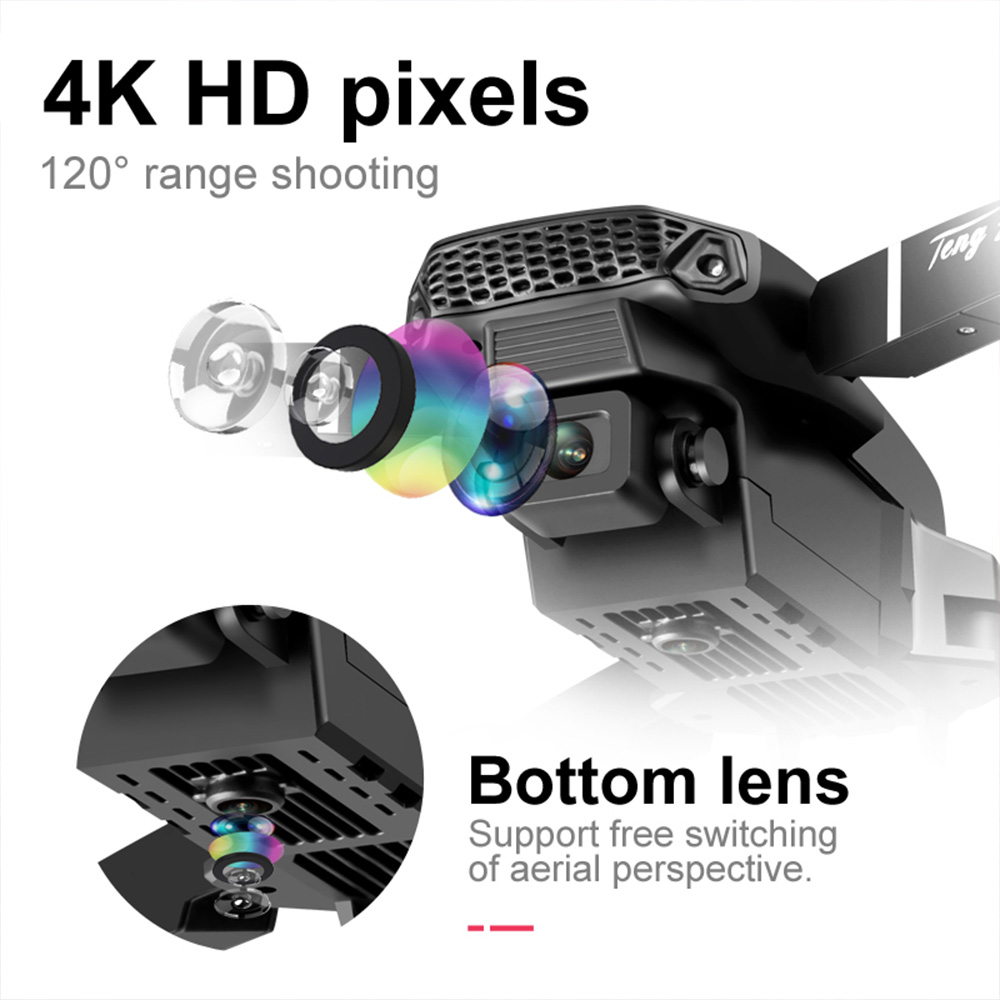 2020 New E88 Pro 4k drone gps drones with camera hd 4k rc airplane dual-camera wide-angle head remote quadcopter aircrafts toy 3