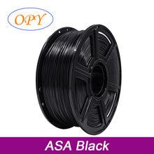 Asa-filamento de impresión 3D, 1,75 Mm, 1Kg, resistente a rayos Uv, Hilo de plástico blanco y negro, 10M, 100G, muestra