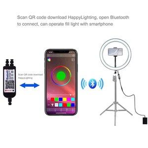 Image 4 - Fotografia Cadiso możliwość przyciemniania RGB LED Selfie Studio oświetlenie do fotografii lampa pierścieniowa do makijażu telefonu do zdjęć wideo YouTube