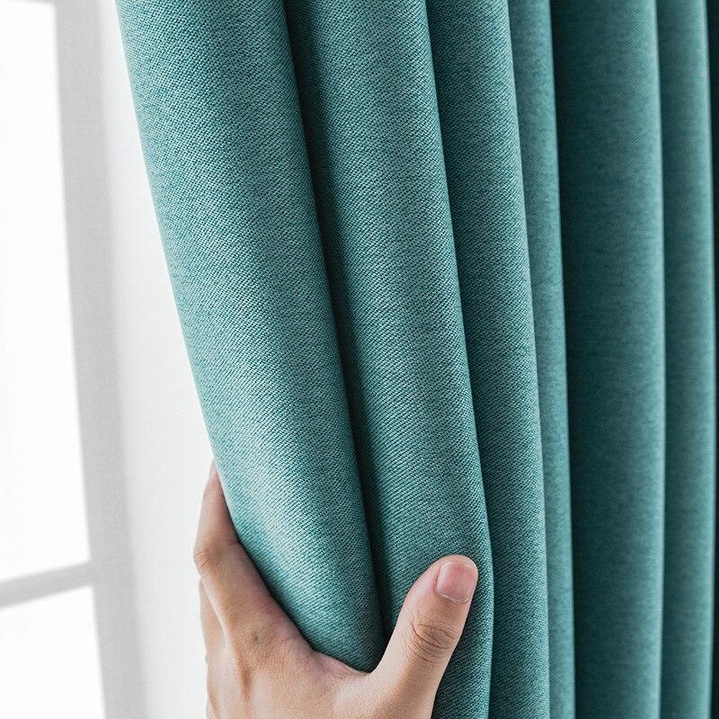 Cortinas para sala de estar de lino de doble cara con aislamiento térmico de color gris y negro de estilo nórdico|Cortinas|   - AliExpress