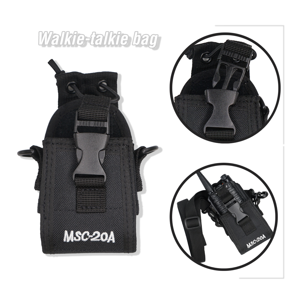 MSC-20A Nylon Pouch Bag Walkie Talkie Case Holder For KENWOOD BaoFeng UV-82 UV-5R UV-9R Plus BF-888S Two Way Radio Carry Case