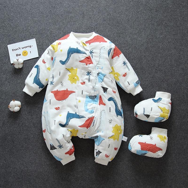 Infant Baby Sleeping Bag Toddler Spring Sleep Watrm Bags Onesies Pajamas Wraps Cotton Split Leg Sleepsack Autumn Kids Sleepwear