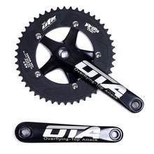 Fixie bike OTA Crankset 48T biciclet Aluminum alloy Single Speed track bike road biycle Fixed Gear 700c Chainwheel cranks